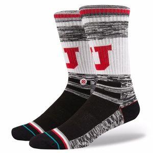 STANCE NCAA University of Utah Utes Crew Socks Med